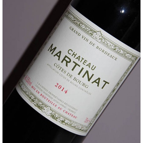 Château Martinat 2014, Côtes de Bourg
